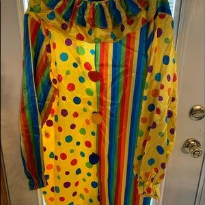 Full Clown Costume-one size /Adult